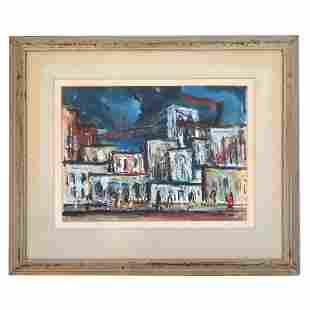Sol WILSON: Street Scene - W/C Painting