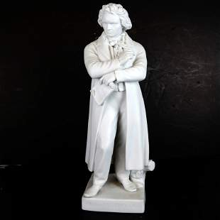 Continental Parian Sculpture of Beethoven