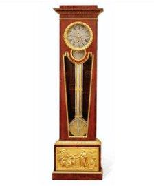 Sortais Fils Mahogany Regulator Tall Case Clock