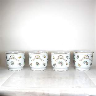 "Four Herend ""Queen Victoria"" Pattern Jardinieres"