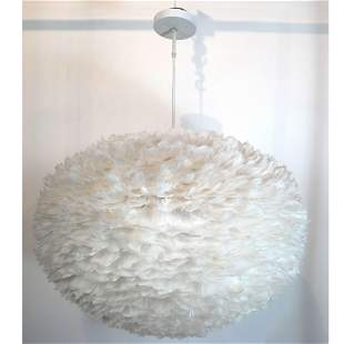 Modern EOS Large Feathered Pendant Fixture
