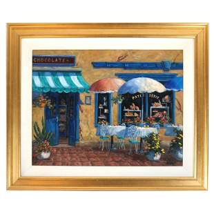 Nick BUBANY: French Cafe Scene - Painting