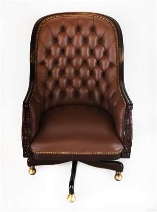 Hancock & Moore Regency-Style Tufted Chair