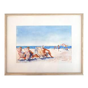 Ruth PADAWER: At the Beach - W/C Painting