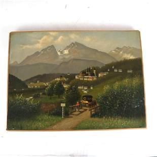 Hermann WOLFF: Alpine Landscape - Oil Painting