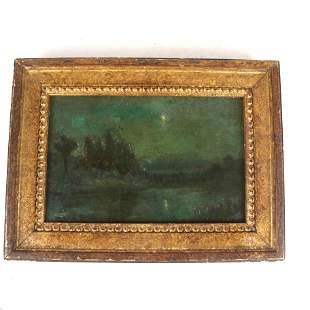 W. ALDEN BROWN: Evening Landscape - Oil Painting