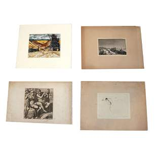 "4 Art Works: Celsius, Rogers, Kinney, ""Bordeaux"""