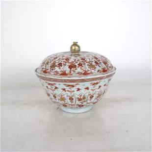 Chinese Kang Xi Porcelain Bowl and Bowl Cover