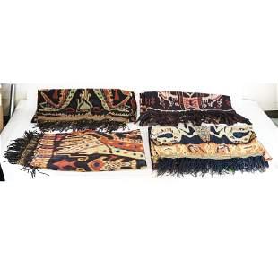 Four Large Ethnic Textiles