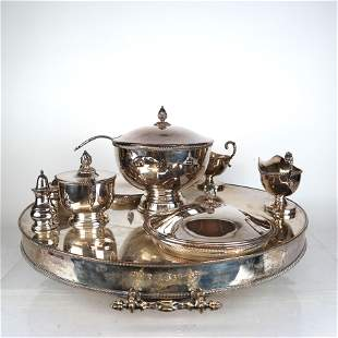 19th C. French Silver Plate Supper Set