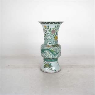 Chinese Porcelain Gu Form Vase with KangXi Mark