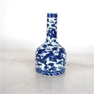Blue & White Dragon YaoLing Zun with Qianlong Mark