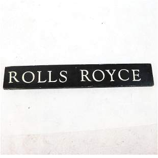 """Painted Wood """"Rolls Royce"""" Sign"""