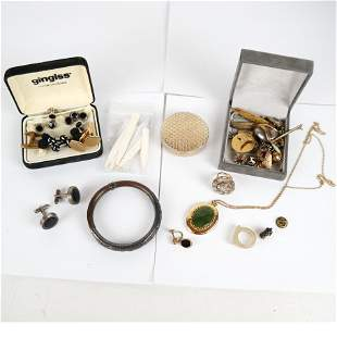 Lot of Antique and Vintage Costume Jewelry