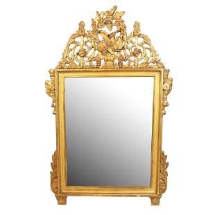 Antique Continental Ornate Gilt Wood Mirror
