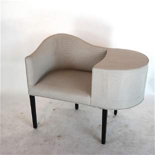 Art Deco -Style Upholstered Telephone Chair