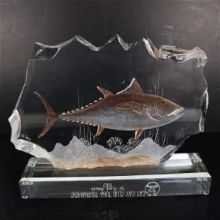 Acrylic Tuna Sculpture Trophy