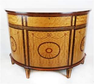 George III-Style Demilune Cabinet