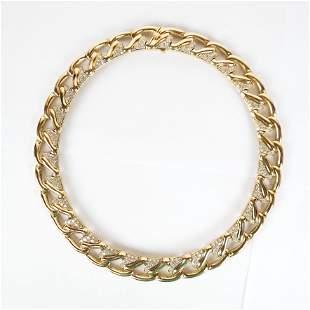 Bulgari 18K Gold & Diamond Choker