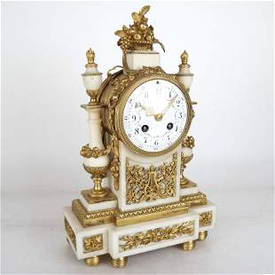 19th C. Bronze Mantel Clock