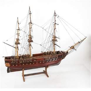 Vintage Ship Model in Case