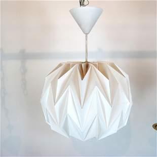 Contemporary Molded Plastic Pendant Light Fixture