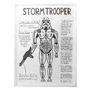 """Michael SCOGGINS: """"Storm Trooper"""" - Ink on Paper"""