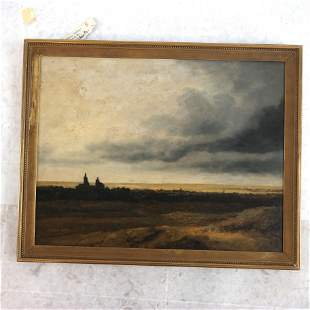 Georges MICHEL: Stormy Landscape - Oil Painting