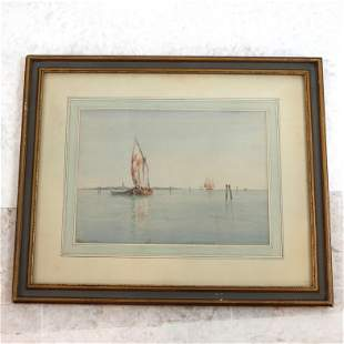 Evelyn BICKNELL: Sailboats - W/C Painting