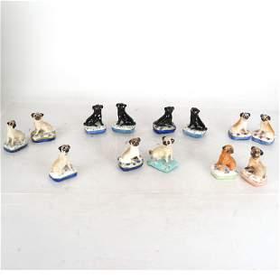 Lot of Ceramic Pug Figurines by Basil Matthews