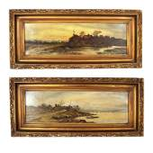 Pair of 19th C. Landscapes - Oil Paintings