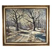D'ORAZIO: Winter Scene - Oil Painting
