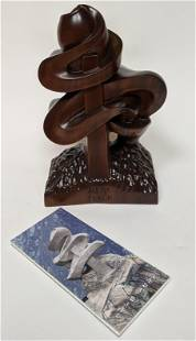 """Vintage Modern Chinese """"Peace"""" Sculpture"""