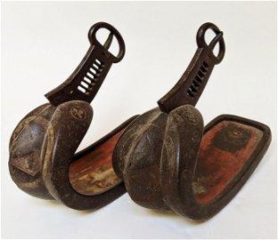 Pair of Japanese Edo Samurai Stirrups