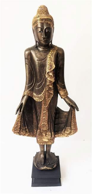Modern Southeast Asia Standing Buddha Sculpture