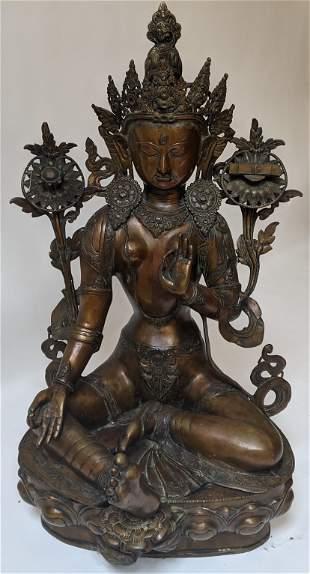 Asian Bronze Tatra Buddha Statue