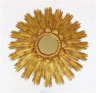 Gilt Wood Sunburst Mirror
