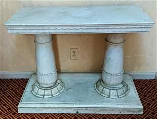 Carrara Marble Double Pedestal