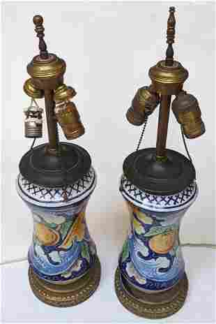 Antique Italian Apothecary Jars as Lamps