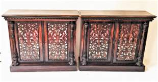 Pair of American Empire Rosewood Cabinets