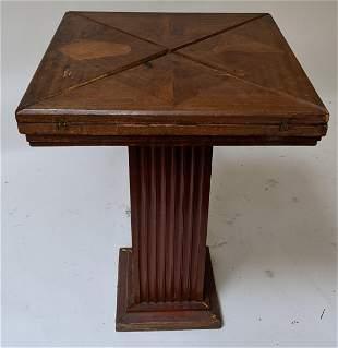 Walnut Handekerchief Game Table