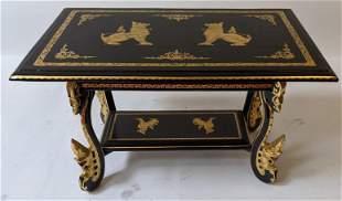 Black Lacquer Tibetan Low Table