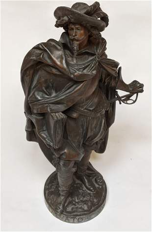A. CARRIER Patinated Metal Salvato Rosa