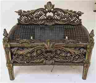 French Bronze Decorative Fireplace Insert