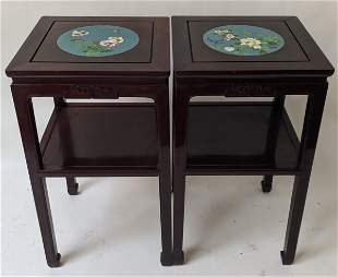 Pair of Asian Chinese Side Tables