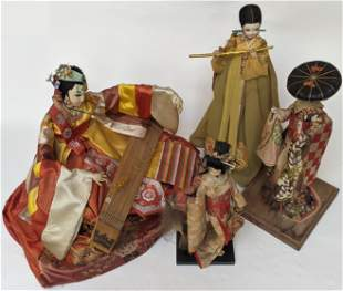 Lot of Four Chinese Dolls