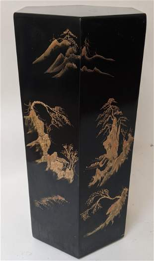 Chinese Black Lacquered Stand