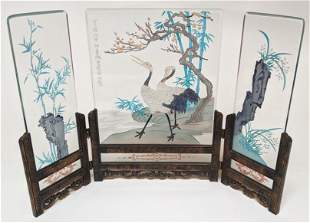 Chinese Three-Panel Table Screen