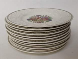 Set of 12 Wedgwood Dinner Plates