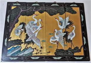 4-Panel Chinese Screen
